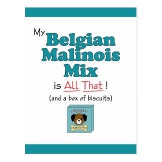 My Belgian Malinois Mix is All That! Postcard