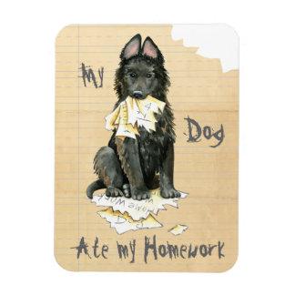My Belgian Sheepdog Ate My Homework Rectangular Photo Magnet