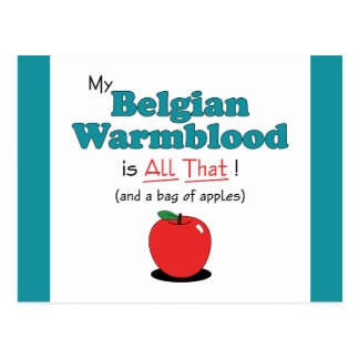 My Belgian Warmblood is All That! Funny Horse Postcard