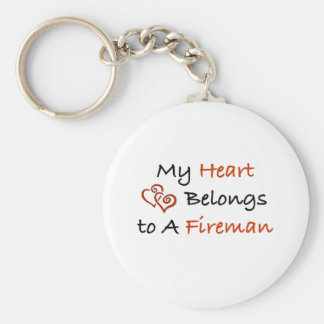My ♥ Belongs to a FF Basic Round Button Key Ring
