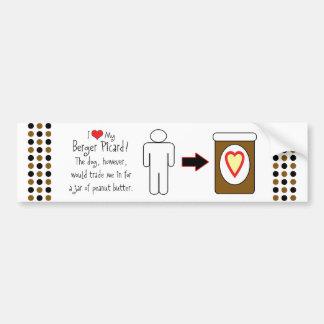 My Berger Picard Loves Peanut Butter Bumper Sticker