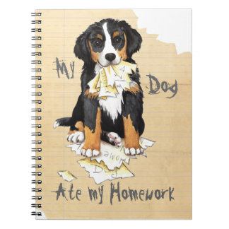 My Berner Ate My Homework Spiral Note Books