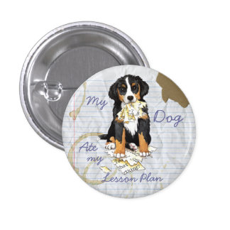 My Berner Ate My Lesson Plan 3 Cm Round Badge