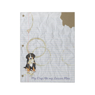 My Berner Ate My Lesson Plan Notepad