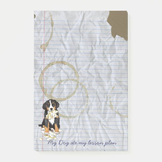 My Berner Ate my Lesson Plan Post-it Notes