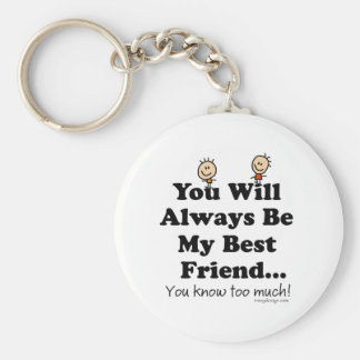 My Best Friend Basic Round Button Key Ring