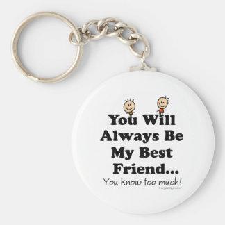 My Best Friend Basic Round Button Key Ring