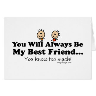 My Best Friend Card