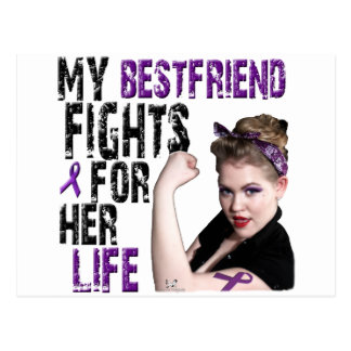 My Best Friend Fights For Her Life Postcard