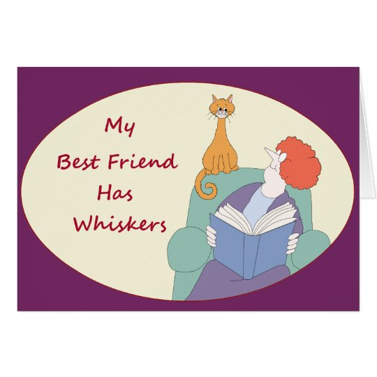 My Best Friend Has Whiskers Card