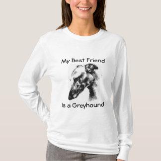 My Best Friend Is A Beautiful Greyhound Dog T-Shirt