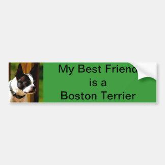My Best Friend is a Boston Terrier bumper sticker