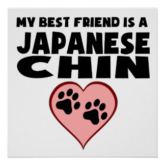 My Best Friend Is A Japanese Chin Poster