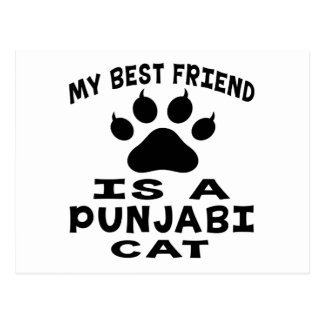 My Best Friend Is A Punjabi Cat Postcard