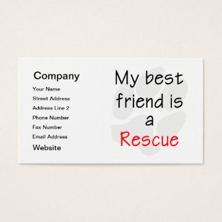 My Best Friend is a Rescue Dog
