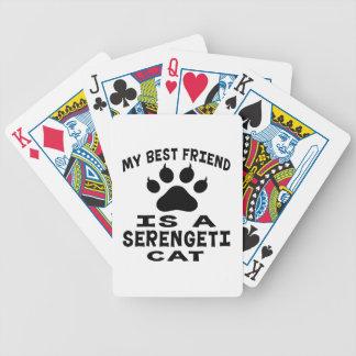 My Best Friend Is A Serengeti Cat Poker Deck