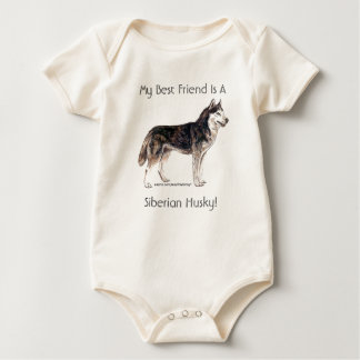 My Best Friend Is A Siberian Husky! Baby Bodysuit