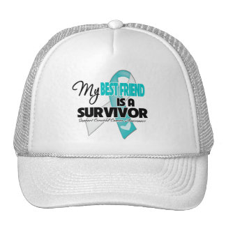 My Best Friend is a Survivor - Cervical Cancer Trucker Hats