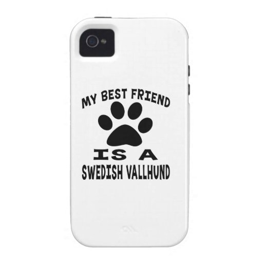 My Best Friend Is A Swedish Vallhund Vibe iPhone 4 Cover
