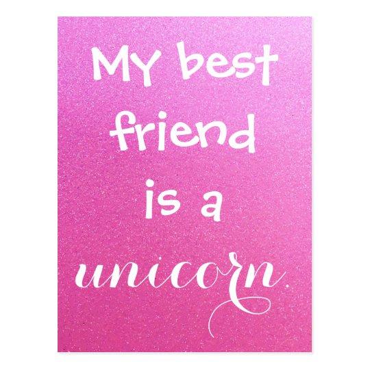 My Best Friend is a Unicorn Pink Purple