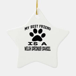 My Best Friend Is A Welsh Springer Spaniel Ceramic Star Decoration