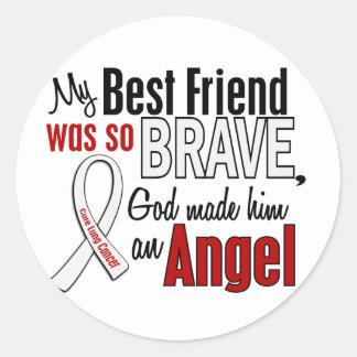 My Best Friend Is An Angel Lung Cancer Classic Round Sticker