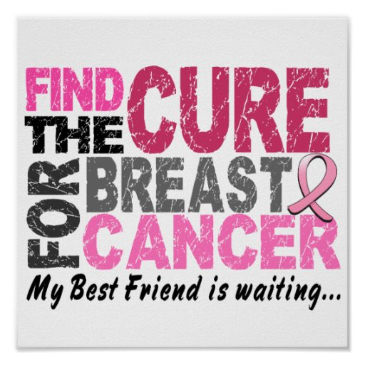 My Best Friend is Waiting Breast Cancer Print