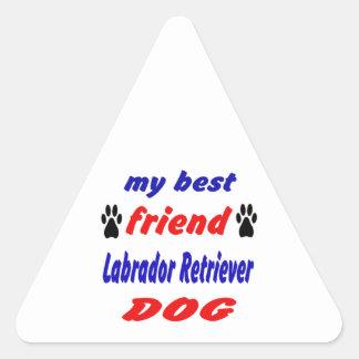 My best friend Labrador Retriever Dog Triangle Stickers