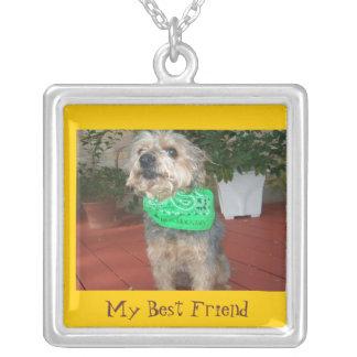 My Best Friend Square Pendant Necklace