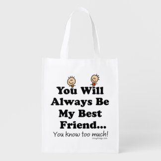 My Best Friend Reusable Grocery Bag
