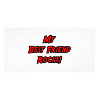 My Best Friend Rocks Photo Card Template
