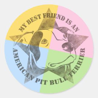 My Best Friend Round Sticker