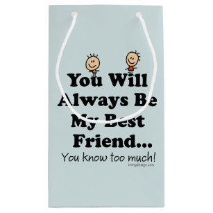 Best Friend Quotes Gift Bags | Zazzle.co.uk