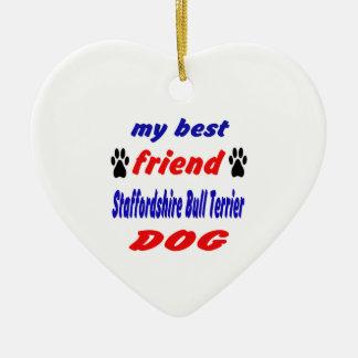 My best friend Staffordshire Bull Terrier Dog Christmas Ornament