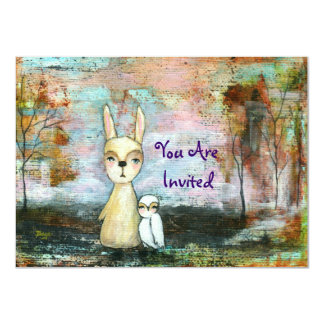 My Best Friend You Are Invited Original Painting Card