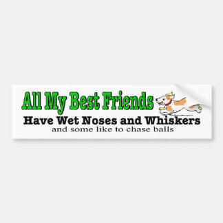 My best friends have whiskers dog bumper sticker