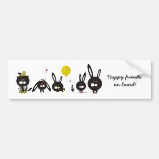 My best friends make me smile by Krize Bumper Sticker