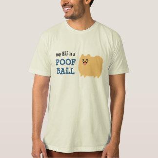 My BFF is a Poof Ball - Cute Pomeranian Dog Tee Shirts