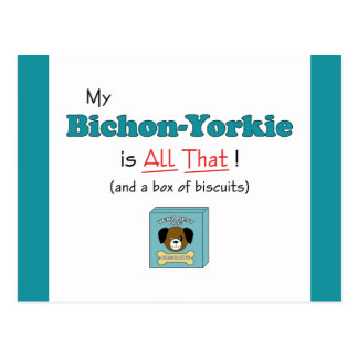 My Bichon-Yorkie is All That Postcard