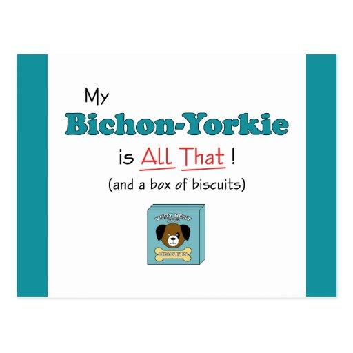 My Bichon-Yorkie is All That! Postcard