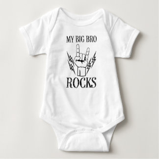 My Big Bro Rocks funny baby boy shirt brother