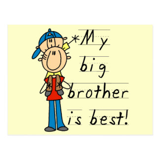 My Big Brother is Best Tshirts and Gifts Post Card