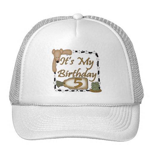 My Birthday Bear 5th Birthday Gifts Hat