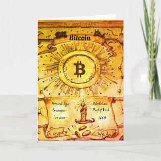 My Bitcoin HODL Note Card