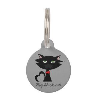 My black cat identification tag
