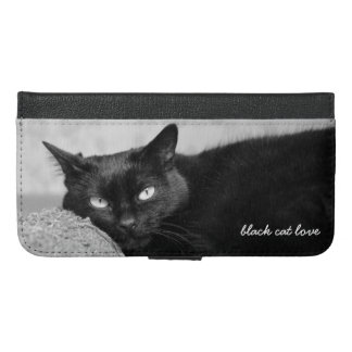 My Black Cat Photo iPhone Wallet Case