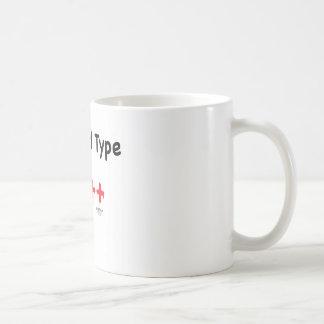 My blood type is c++ coffee mug