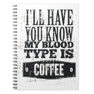 My Blood Type Notebook