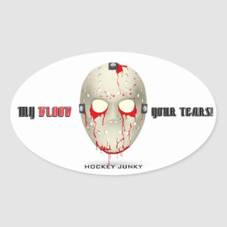 MY BLOOD YOUR TEARS OVAL STICKER