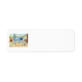 My Blue Horse Return Address Label